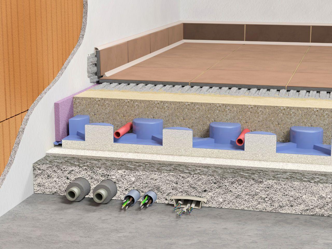Skladba pěnobetonové podlahy