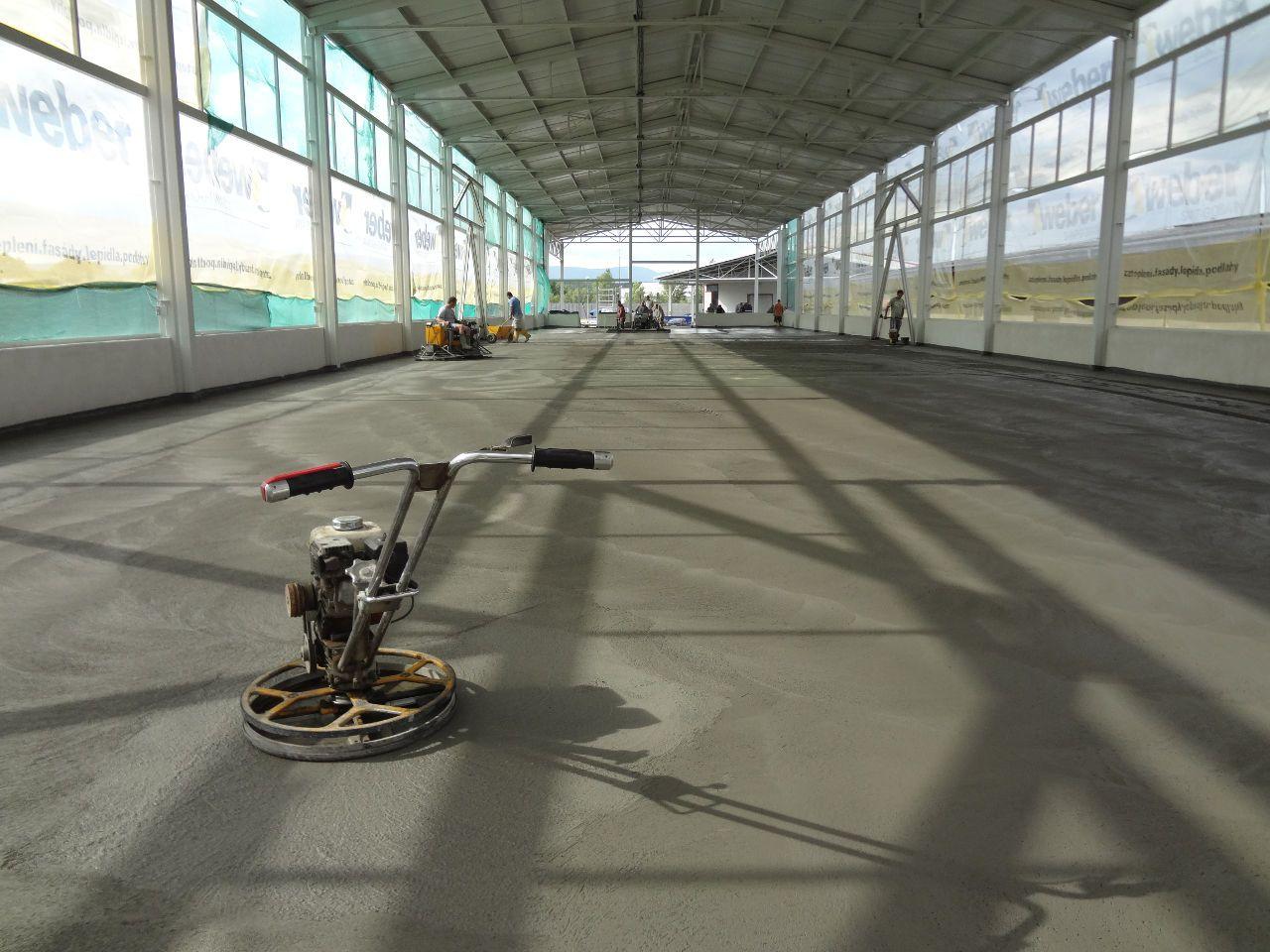 Betonová podlaha Compaction