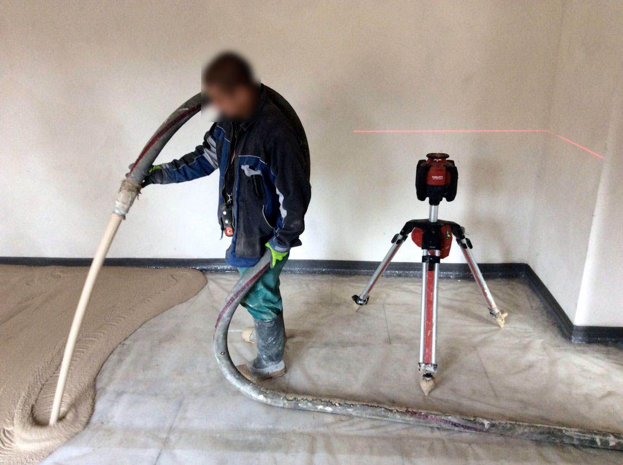 Hlídání hladiny anhydritu pomocí laseru
