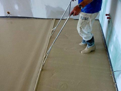Nivelace podlahy postup
