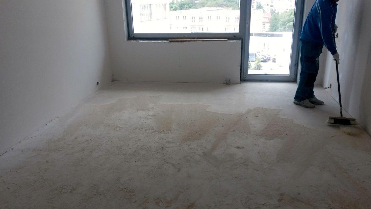 Finální úpravy anhydritové podlahy