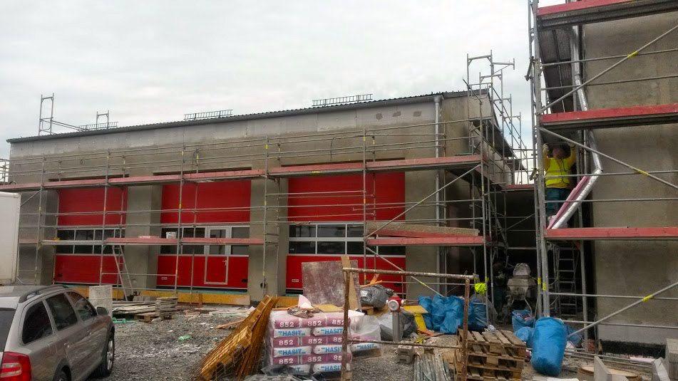 Stavba tělocvičny