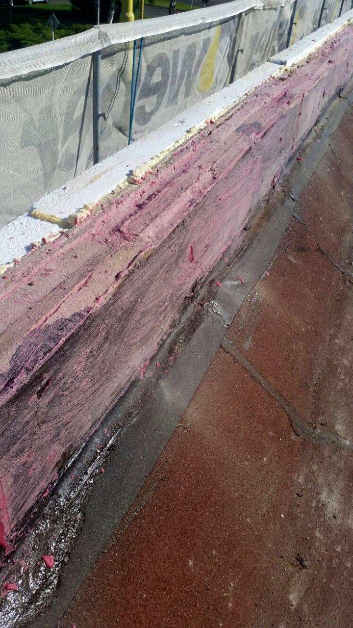 Strhnutí asfaltových pásů zatikového zdiva a napenetrování atiky