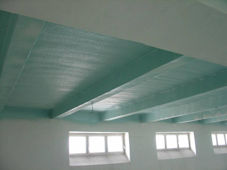 Izolace stropu tvrdou pěnou S-303E-P