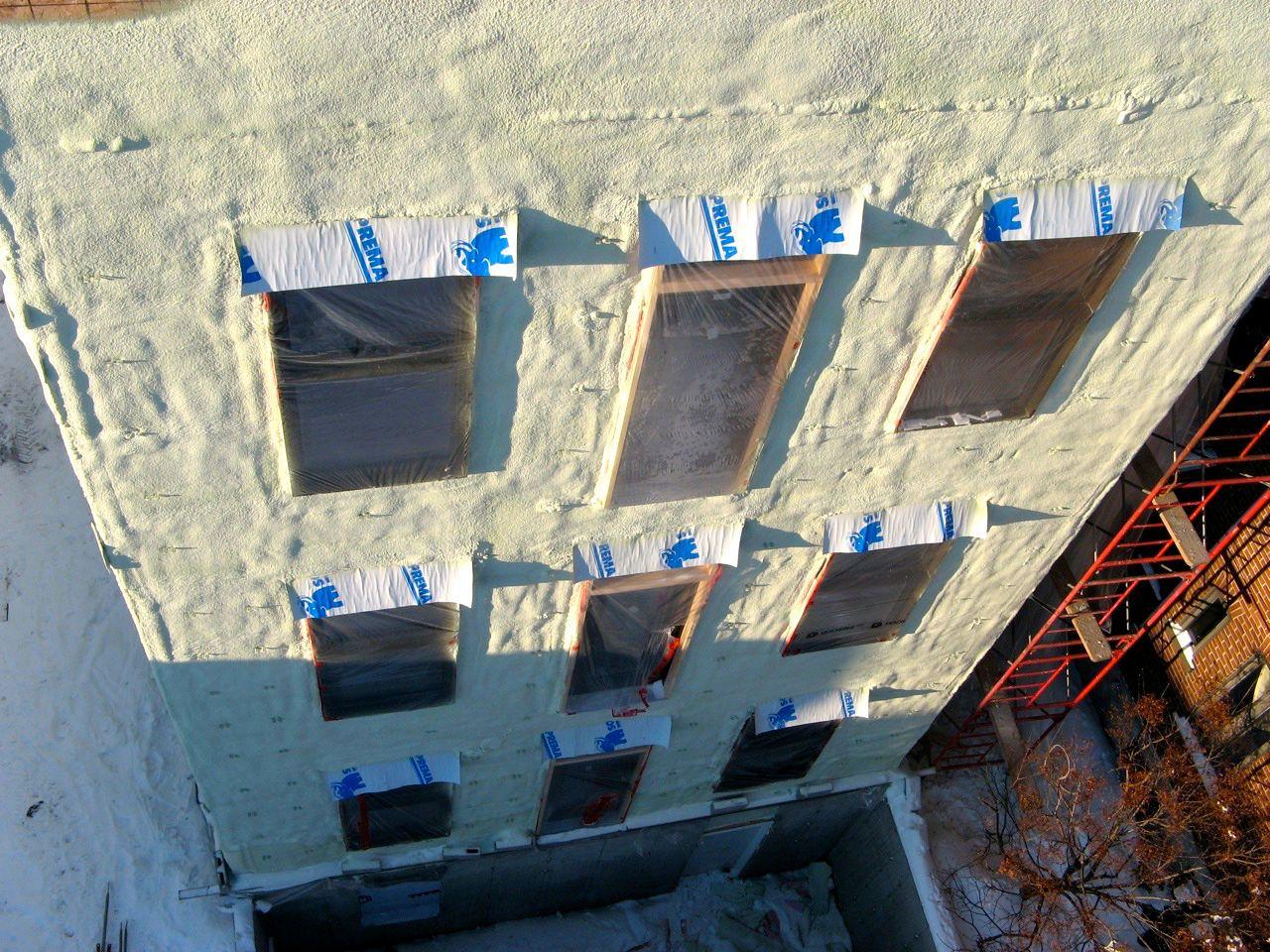 Izolace fasády pěnou