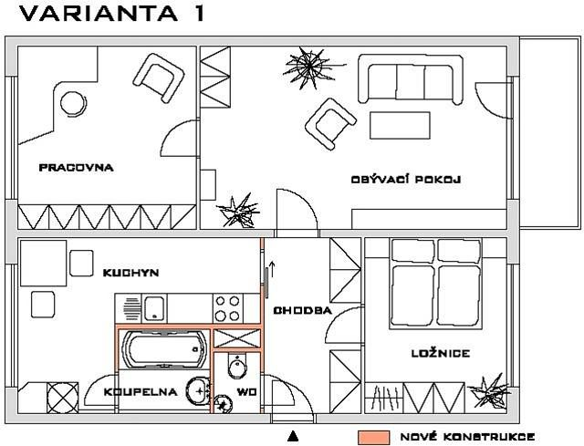 Příklad přestavby bytu